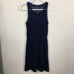 Gap Women's Tank Dress Size XS Lace Top Navy